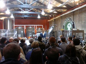 Brewery tour in the new expansion
