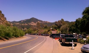 View of the street by Malibu Wines